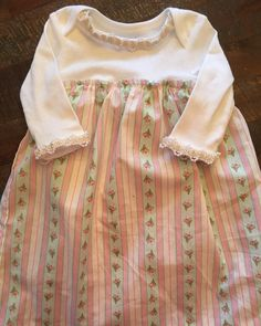 Baby girl dress size 3 months shabby chic lonng by LilThyngCrafts