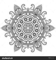 Vector Henna Tatoo Mandala. Mehndi Style. - 365074349 : Shutterstock
