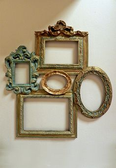 DIY Home Decor – Simply sensational house styling ideas and solution. Long for additional brilliant styling decor information jump to the link for the website example today Empty Picture Frames, Antique Picture Frames, Empty Frames, Antique Pictures, Vintage Frames, Frames On Wall, Picture Wall, Shabby Chic Picture Frames, Cheap Home Decor