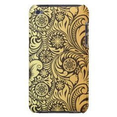 Gold Flower Pattern Design Case-Mate iPod Touch Case - flowers floral flower design unique style