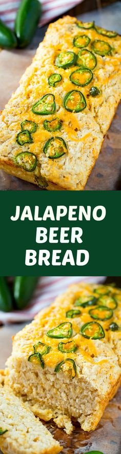 Jalapeno Beer Bread - super easy to make and goes great with a bowl of chili.
