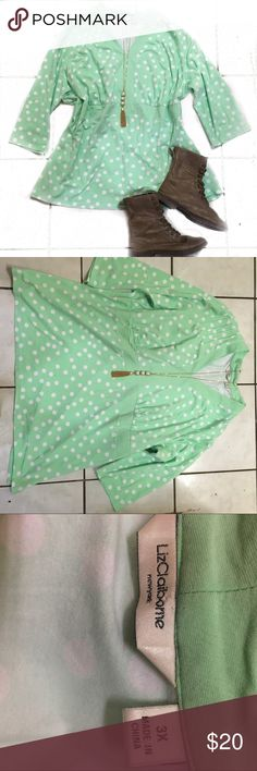 Polka dots top size 3x In great condition bundle to save Tops Blouses