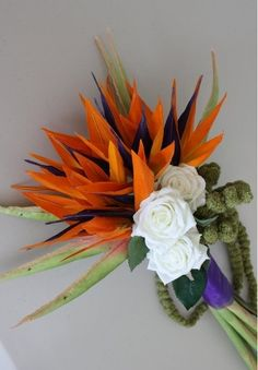 Bird Of Paradise Wedding Bouquet