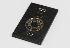 SOLIS gold foil + black business cards via FPO