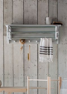 Extending Clothes Dryer is perfect for when space is limited, completewith a handy top shelf, a seven-rail rack with an addition of six woodenhooks all crafted from Birch plywood.