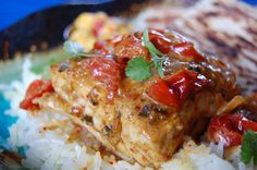 Halibut with tomato-curry cream (Machhli Tamatar) | Voodoo and Sauce