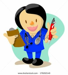 Female nurse with clipboard and pen ready to check your vitals signs by AtomicBHB, via Shutterstock