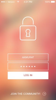IOS7 Login Screen by Murat Ak