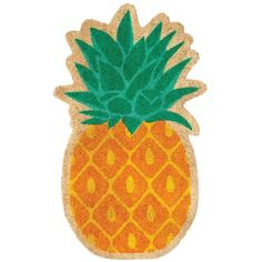 Sunnylife Pineapple Doormat ($35) ❤ liked on Polyvore featuring home, outdoors, outdoor decor, filler, coir doormat, pineapple outdoor decor, welcome door mats, coir door mats and welcome mat