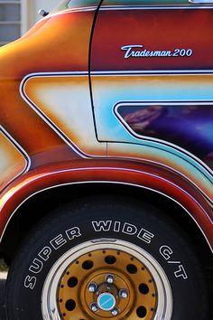 No automatic alt text available. Dodge Van, Chevy Van, Old School Vans, Day Van, Vanz, Vans Kids, Panel Truck, Van Interior, Cool Vans
