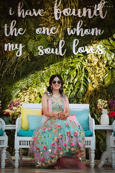 A Royal Jaipur Wedding With Bride In Beautiful Mehendi Outfit! Check out photos, ideas & stories shared by Bride & Groom. Summer Wedding Outfits, Bridal Outfits, Summer Weddings, Mehndi Ceremony, Mehendi Outfits, Pink Lehenga, Wedding Rituals, Wedding Story, Wedding Photoshoot