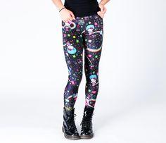 Japan LA x Hello Kitty Leggings: Disco Outerspace