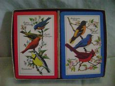 Vintage Playing Cards Double Decker Birds Cardinals, Baltimore Oriole & More