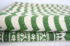 Hand Block Bed Cover or Blanket in Queen Size by gypsya on Etsy, $128.00