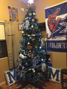 Memphis Tiger Christmas Tree