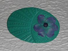 Haarspangen - Haarspange Polymer Clay türkis-lila Blüte - ein Designerstück von iCo-Design bei DaWanda