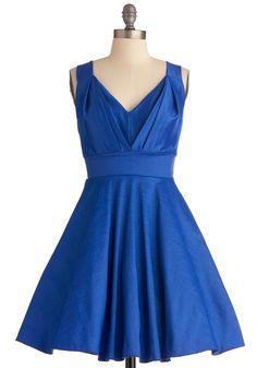 Playing With Sapphire Dress   Mod Retro Vintage Dresses   ModCloth.com