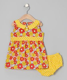 Look what I found on #zulily! Red Poppy Sixties Floral Dress & Diaper Cover - Infant #zulilyfinds