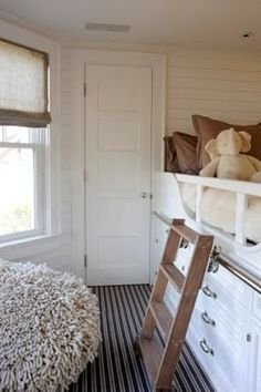 Nice solution to small room.  Add more than roll-under-bed storage. Add dresser-like built-in storage!