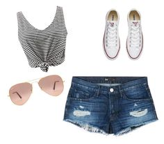 """""""tomorrow to the sea"""" by lifestyle-outfits on Polyvore featuring WithChic, 3x1, Converse and Ray-Ban"""