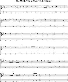 We Wish You a Merry Christmas Sheet Music for Dulcimer - http://dulcimermusic.org/music/we-wish-you-a-merry-christmas/