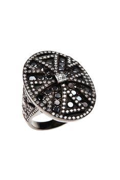 Χρυσό Δαχτυλίδι Κ18. Λευκά Διαμάντια 1.55 ct & Μαύρα Διαμάντια 1.65 ct Black Diamond, Gold Rings, Black Diamonds