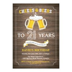 #Rustic Beer Surprise 21st Birthday Invitation - #birthdayinvitation #birthday #party #invitation #cool #invitations
