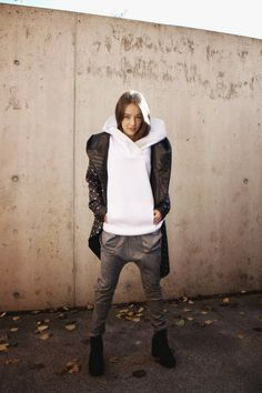 by Magda Hasiak: MMXIVSET #magdahasiak #MMXIVSET #fashion #womanfashion #fashionjacket #whitesweter #fashionsweater#winterfashion #greyfashion #autumnfashion #streetlook #elegantwoman #fashionlook #designerslook