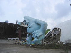 The Abominable Snowman laments the decline and demolition of the Miracle Strip Amusement Park, Panama City Beach, Florida by stevesobczuk, via Flickr