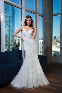 Sequin Wedding Dresses; Style 9745 by Justin Alexander Signature