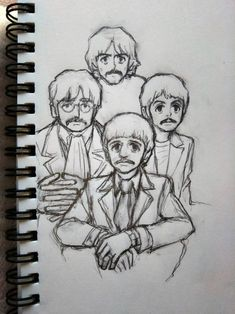 Dark Drawings, Beatles Art, Father's Day Diy, The Fab Four, Dope Art, Fanart, Paul Mccartney, Cool Bands, Drawing Sketches