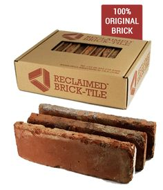 Great Totally Free reclaimed Brick Fireplace Popular Brick tiles are a stunning way to create the effect of an exposed wall effect using our eco-friendl Kitchen Wall Tiles, Kitchen Backsplash, Brick Bathroom, Backsplash Ideas, Room Tiles, Brick Tile Backsplash, Tile Ideas, Metro Tiles Kitchen, Kitchen Feature Wall