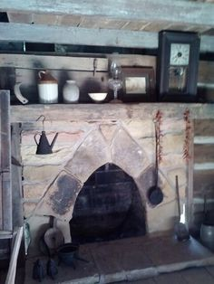 Fireplace at museum of appalachia