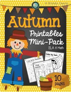 Practice essential Math and ELA skills and concepts with this seasonal mini-pack of printables! Pack of 10 Autumn