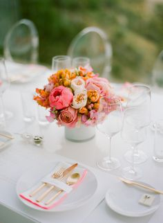Pink & Coral Table Setting