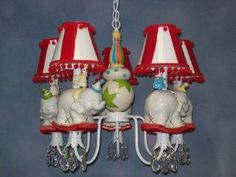 Whimsical Vintage Circus Chandelier