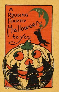 Antique Postcard... Happy Halloween.