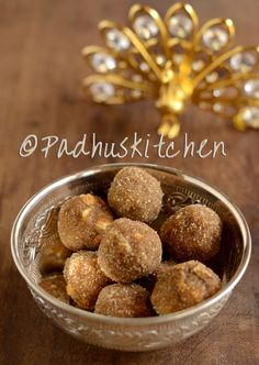 Poha laddu with natural cane sugar and nuts-healthy snacks for both kids and adults