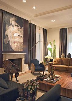 """""""How to Create a Dramatic Neutral Interior  www.designlikethepros.com  living room by Marelo Brito"""