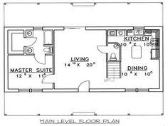 Image result for cottage plans under 500 square feet for Block garage plans