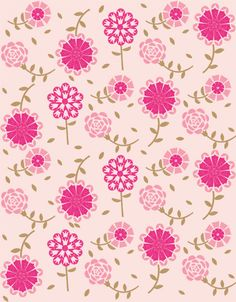 Debbie Powell, illustrator, at The Artworks Illustration Agency Flower Wallpaper, Pattern Wallpaper, Wallpaper Backgrounds, Iphone Wallpaper, Pink Patterns, Flower Patterns, Flower Designs, Decoupage Paper, Pattern Paper