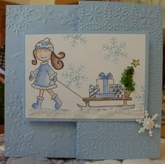 Girl with Sleigh-Elzybells by Susie B - Cards and Paper Crafts at Splitcoaststampers