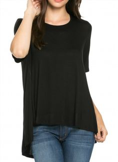 25.99$  Watch here - http://virbs.justgood.pw/vig/item.php?t=kv58o1g27581 - Craze Scoop Neck High-Low Knit Jersey Tunic Top(Made In Usa) 25.99$