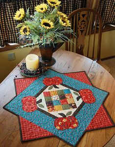 Fall Seasonal Topper by Heather Mulder Peterson, no pattern but sure is cute
