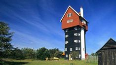 World's Weirdest Buildings  Originally built as a water tower, House in the Clouds was converted into a home in 1978, with 5 bedrooms and 3 bathrooms- House in the Clouds, Thorpeness, Suffolk.