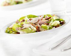 Salada de peru com pepino e maçã