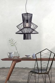 Tornado Black Ceiling Lamp
