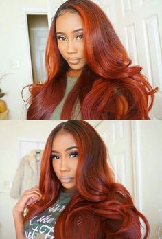 red sew ins hairstyles with color We are looking for active pinners to colaborate on some of our hair and beauty boards. Must post daily to join, comment on latest pin if you're interested Shop Now: www. Front Hair Styles, Curly Hair Styles, Natural Hair Styles, Hair Front, Birthday Hair, Lace Hair, Black Girls Hairstyles, Weave Hairstyles, Dope Hairstyles
