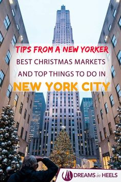 Tips from a New Yorker: Best Christmas Markets in New York City, Where to Stay and Top Things to do during your winter holiday in NYC! via Holiday Best Christmas Markets in New York City 2019 by a New Yorker Holidays In New York, New York City Christmas, Winter Holidays, Winter In Nyc, Best Christmas Markets, Christmas Travel, Holiday Travel, New York Vacation, New York City Travel