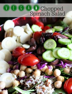 Vegan Chopped Spinach Salad
